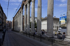 Colonne di San Lorenzo in Milan Stock Photos
