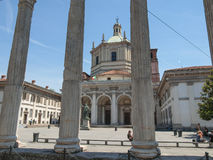 Colonne di San Lorenzo Milan Stock Photo