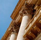 Colonne di sostegno a Città del Vaticano Fotografie Stock