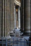 Colonne di vecchia cattedrale Fotografia Stock Libera da Diritti