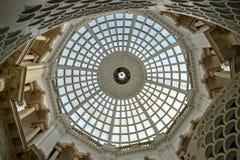 Colonne di vetro della cupola Fotografie Stock