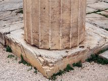 Colonne dorique, Athènes Image stock