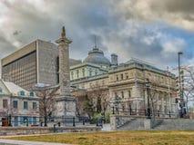 Colonne du ` s du Nelson, Montréal Photographie stock libre de droits