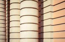 Colonne e pareti, fondo di architettura Fotografia Stock Libera da Diritti