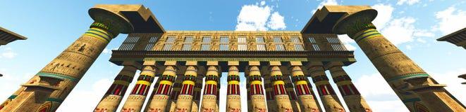Tempio egiziano Fotografie Stock Libere da Diritti