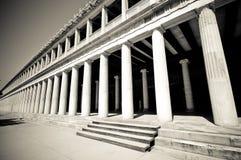 Colonne esterne a Stoa di Attalos, Atene, Immagini Stock
