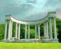 Colonne greche di stile Immagine Stock
