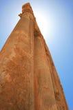 Colonne impressionanti alte, tempiale di Baalbeck Immagine Stock