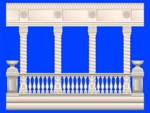 colonne Inferriate dello stucco royalty illustrazione gratis