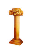 Colonne ioniche dell'oro nello stile greco immagini stock libere da diritti