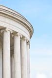 Colonne ioniche a Jefferson Memorial Fotografie Stock Libere da Diritti