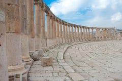 Colonne in Jerash Immagine Stock
