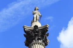 Colonne Londres du ` s du Nelson Image stock