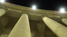 Colonne meravigliose nel quadrato di Vaticano video d archivio