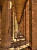Colonne nel tempio di Hatshepsut (Egitto) Immagini Stock