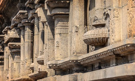 Colonne nel tempio indiano di Kapaleeswarar Fotografia Stock Libera da Diritti