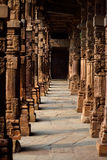 Colonne in Qutab minar, India Fotografia Stock Libera da Diritti