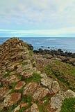 Colonne Ridge de basalte de chaussée de Giants Images libres de droits