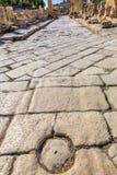 Colonne Roman Road City Jerash Jordan antico Fotografia Stock Libera da Diritti