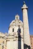 Colonne Rome de Trajans Images libres de droits