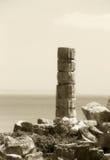 Colonne simple du grec ancien, tonalité de vintage Image libre de droits