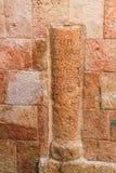 Colonne située à la référence six sur Via Dolorosa images stock