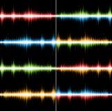 Colonne sonore colorate Fotografia Stock