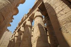 Colonne in tempiale egiziano Fotografia Stock Libera da Diritti