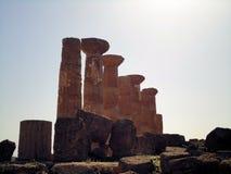 Colonne tempio. Valle templi agrigento sicilia italia Royalty Free Stock Photography