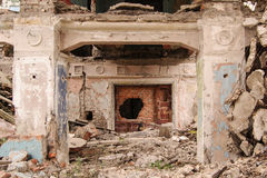 Colonne in vecchio palase Immagine Stock Libera da Diritti