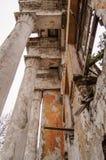 Colonne in vecchio palase Fotografia Stock