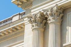 Colonnes corinthiennes en pierre grecques Image libre de droits