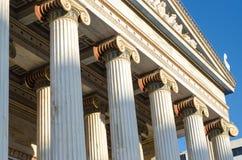 Colonnes d'académie d'Athènes Image libre de droits