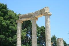 Colonnes dans les ruines d'Olympia Photo libre de droits