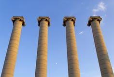 Colonnes dans Montjuic, Barcelone Image stock