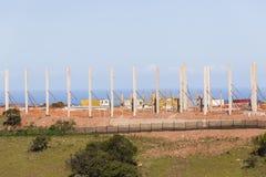 Colonnes de béton de construction Photo stock