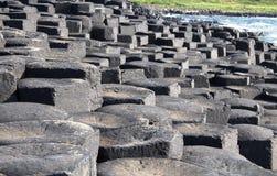 Colonnes de basalte de la chaussée du géant photos libres de droits
