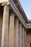 Colonnes de British Museum Photographie stock