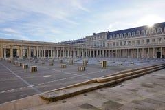 The Colonnes de Buren in the Palais Royal in Paris Stock Photo
