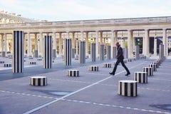 The Colonnes de Buren in the Palais Royal in Paris Stock Photos