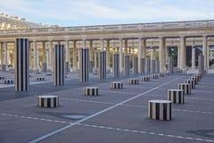 The Colonnes de Buren in the Palais Royal in Paris Royalty Free Stock Photos