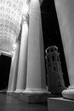 Colonnes de cathédrale de Vilnius Image libre de droits