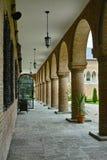 Colonnes de château de Mogosoaia Photos stock