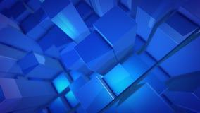 colonnes de la conception 3D dans une perspective diagonale illustration stock