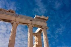 Colonnes de parthenon Images libres de droits