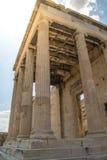 Colonnes de parthenon d'Acropole à Athènes, Grèce image stock