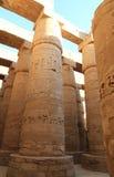 Colonnes de temple de Karnak Photos stock