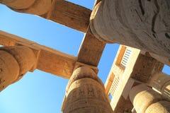 Colonnes de temple de Karnak Photo libre de droits