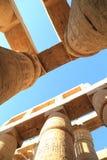 Colonnes de temple de Karnak Photos libres de droits