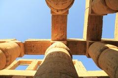 Colonnes de temple de Karnak Photographie stock libre de droits